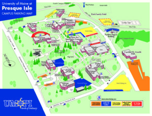 Umpi Campus Map.Umpi Campus Parking Map Maine International Trade Center